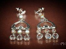 Crystal Earrings Anima 5cm