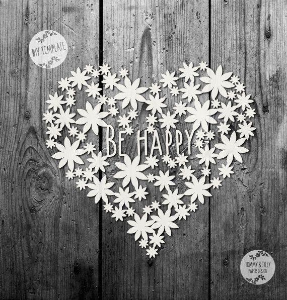 50% SALE SVG / PDF Daisy Heart Design  by TommyandTillyDesign