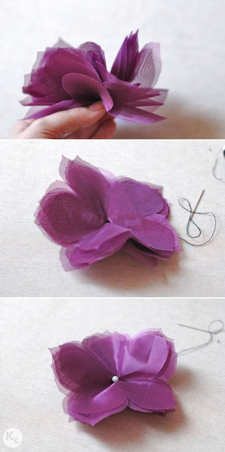 DIY-Tulle flower corsage