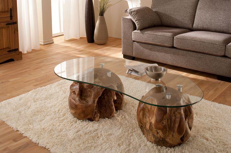 Ein #Couchtisch in solcher Form ist schon etwas besonderes. Hinzu kommt, dass dieser #Tisch der #UNIKAT-Serie aus #Teak-#Altholz besteht oder noch genauer gesagt #Wurzelholz, ein #Holz, welches erst mühevoll mit #Hand nachbearbeitet wird.