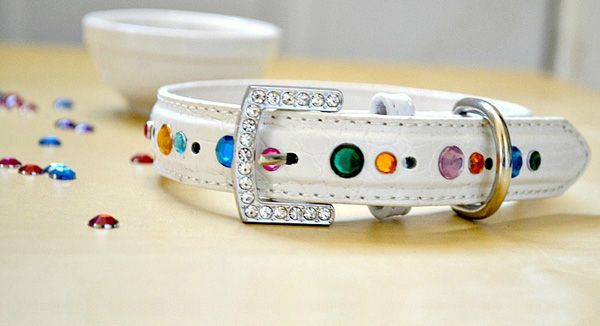 """DIY bling dog collar...sooo easy and sooo cute!!!!....I have a hard time finding """"that perfect collar""""...so now I just bling up my own...my babies must be fashinable!!!"""