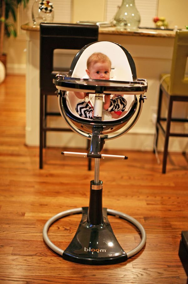 "Bloom Fresco Loft High Chair  ""This high chair is undoubtedly the best looking chair out there. It fits seamlessly in my house as part of the décor, while providing all of the functions that any baby and parent could ever want! You can raise it up or down, tilt it forwards or back, and rotate it 360 degrees.  What I love most is that this high chair is easy to clean and will grow with ___. It becomes a great toddler chair."""