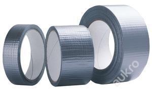 Textilní stříbrná DUCT páska 48mmx50m ČS Kvalita za dobrou cenu