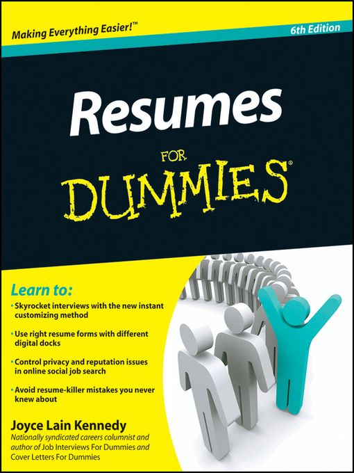 17 best Job Search eBooks images on Pinterest Job search, Career - how to write a resume for dummies