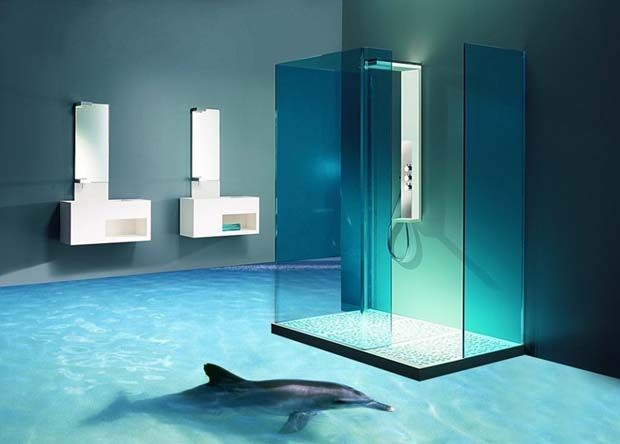 30 best 3d bathroom floor design images on pinterest