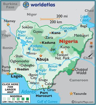 Nigeria, the most populous country in Africa with 166629000 people