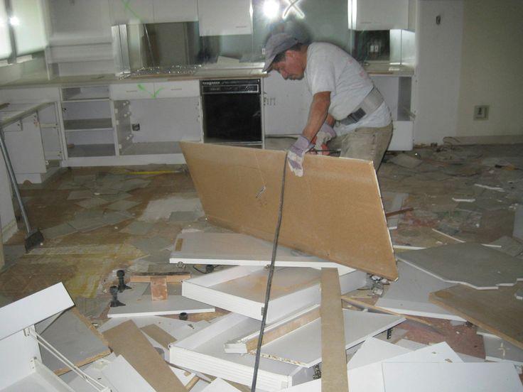 Tearing Out Kitchen Cabinets Http://masterdemolitioninc.com/kitchen  Demolition