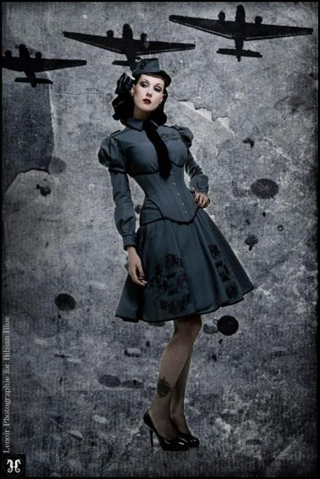 Dieselpunk Costume - 'Militaria' Collection  By Bibian Blue  Photo: Lenoir;  Love the idea, would change the corset to be brown.