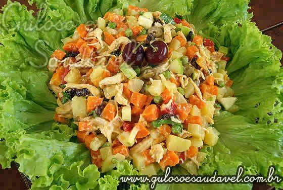 Salpicão de Frango Light » Aves, Receitas Saudáveis, Saladas » Guloso e Saudável