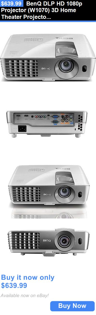 Home Theater Projectors: Benq Dlp Hd 1080P Projector (W1070) 3D Home Theater Projector Rgbrgb Color Wheel BUY IT NOW ONLY: $639.99
