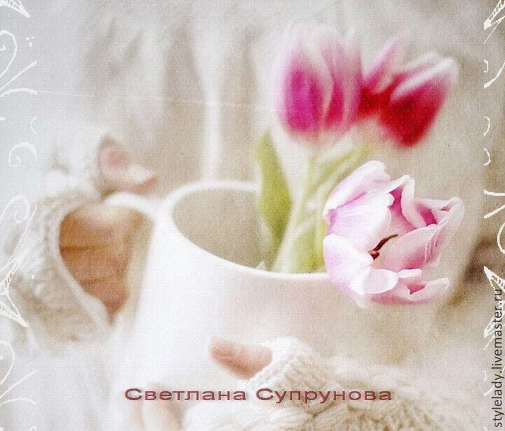 """Купить Открытка в РЕТРО стиле ... """" С Любовью """" - белый, с новым годом, открытка"""