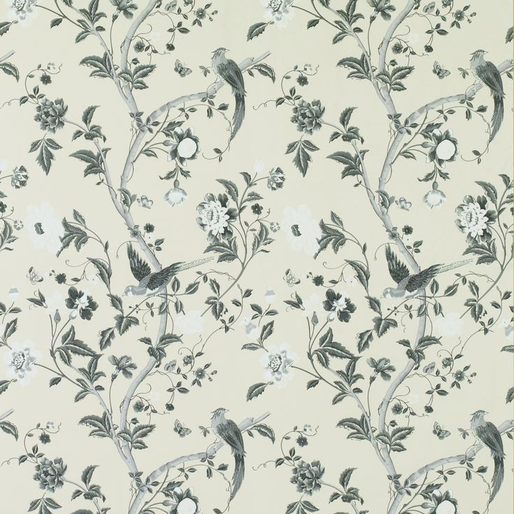 Summer Palace Charcoal Floral Wallpaper