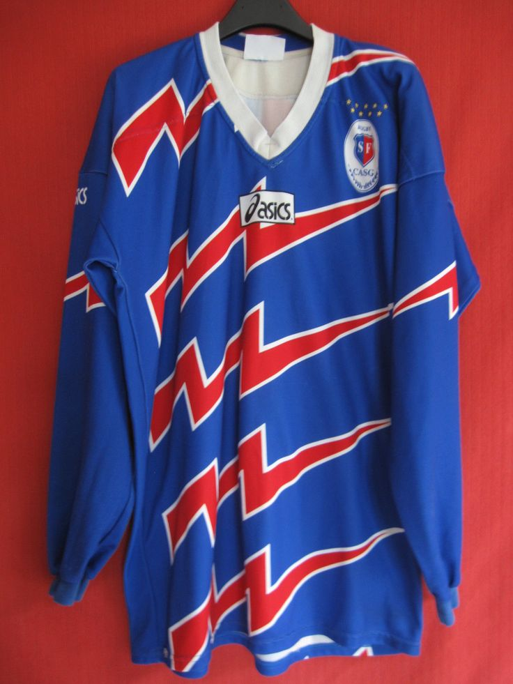 Maillot Stade Francais Porté N° 10 Rugby SF Bleu Paris Asics Vintage BE XL   eBay