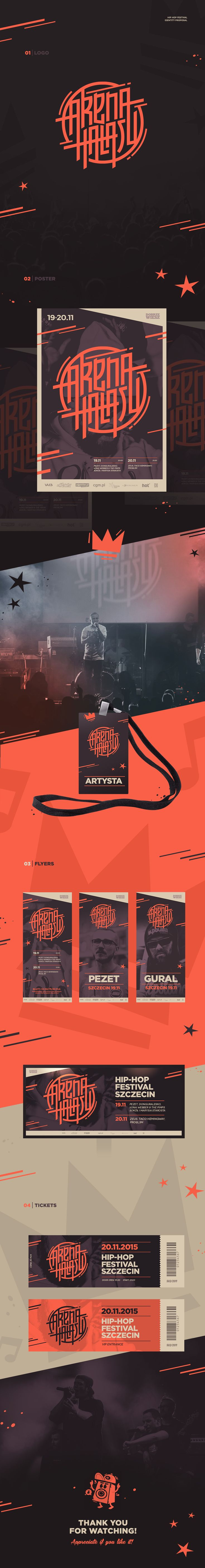 Arena Hałasu | hip-hop festival on Behance