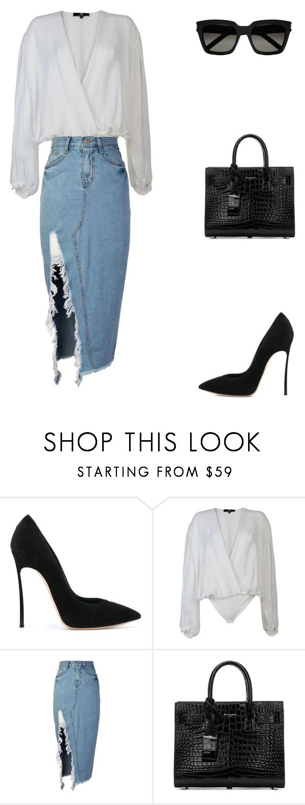 """""""Untitled #449"""" by mitzi9 ❤ liked on Polyvore featuring Casadei, Elisabetta Franchi, storets and Yves Saint Laurent"""