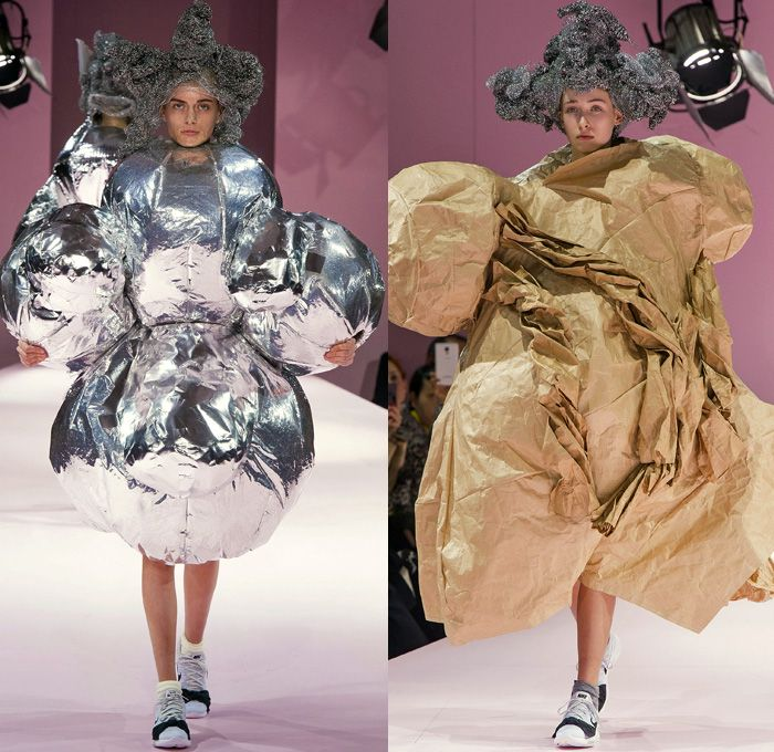 Comme Des Garcons Designer Rei Kawakubo 2017 2018 Fall Autumn Winter Womens Runway Catwalk Looks Mode A Paris Fashion Denim Jeans Fashion Fashion Week Runway
