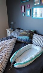 robben nests — Safe Sleeping (shown here in a queen sized bed for co-sleeping)