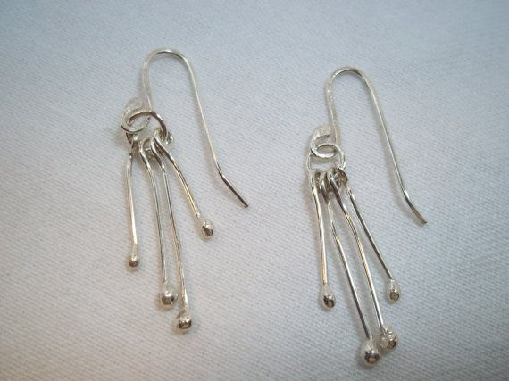 Silver earrings by ArtisanJewelryWorks on Etsy