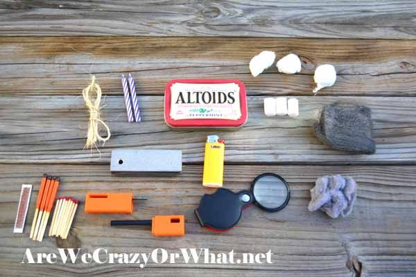 Start A Fire Anytime/Anyplace With A DIY Altoids Fire Starter Kit~AreWeCrazyOrWhat.net