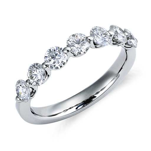 Classic Floating Diamond Ring in Platinum this would look great with my engagement ring :-)