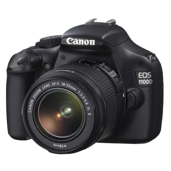 Camera foto digitala CANON EOS1100D + obiectiv EF 18-55 IS, 12Mp, 2.7 inch, negru