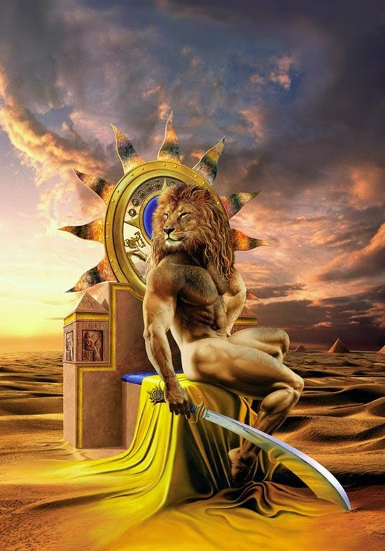 Maahes- Egyptian myth: the lion headed god of war, protection, weather, knives, lotuses, and devouring captives. His parents were Ptah and Bast or Sekhmet.