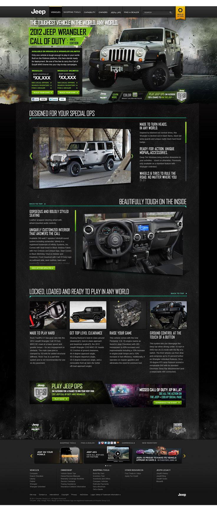 Official jeep com redesign on behance