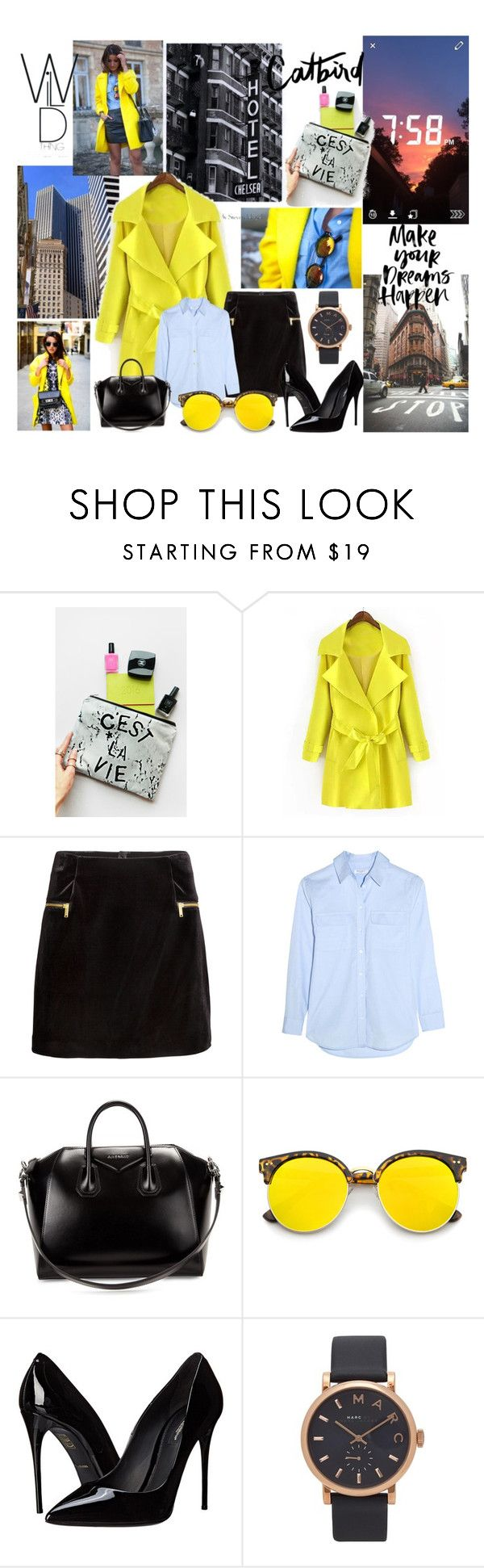"""""""yellow power"""" by camilazeballo on Polyvore featuring moda, Piaget, Rianna Phillips, H&M, Equipment, Givenchy, Revo, Dolce&Gabbana y Marc by Marc Jacobs"""