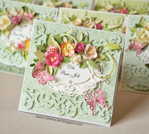 Card Making Ideas Using Punches Part - 33: Idea - Punch Flowers From Coordinating Colour Papers Or Handmake Little  Paper Blossoms.