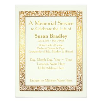 Funeral Invitations, 1,200+ Funeral Announcements ...
