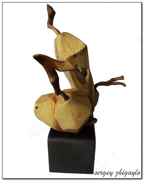 """Купить Резная статуэтка фрукты - """"Гимн плодородию"""" - статуэтка, подарок девушке, подарок женщине"""