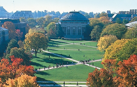 University of Illinois Quad in the fall.