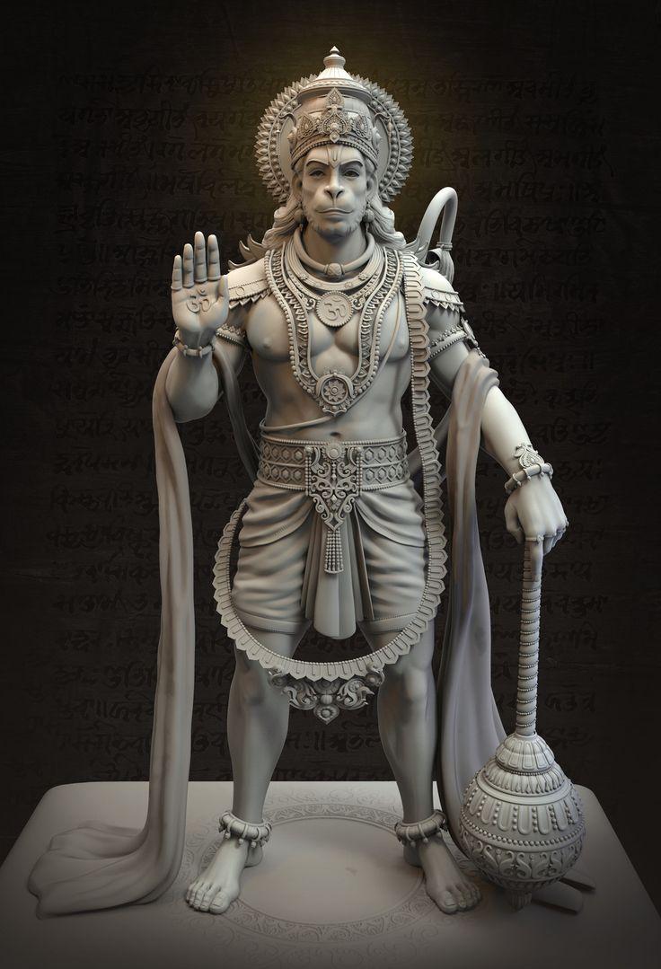 Vijayanjaneya Statue, Harshal Battin on ArtStation at https://www.artstation.com/artwork/9Z3Eo