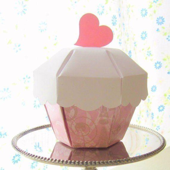 Molde para hacer cajas con forma de cup cake