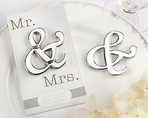 Mr.  Mrs. Ampersand Bottle Opener Wedding Favor - perfect for a rustic or vineyard wedding! - Wine Country Occasions, www.winecountryoccasions.com