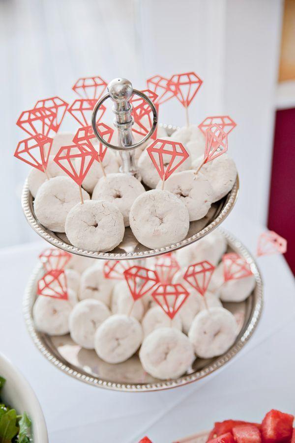 bridalshowerideas mini powdered donuts for bridal shower trueblu bridal shower dessert table ideas bridal shower sweets