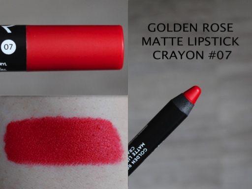 MAKEUP ARENA: Golden Rose Matte Lipstick Crayon -no 07