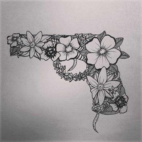 flower gun tattoo