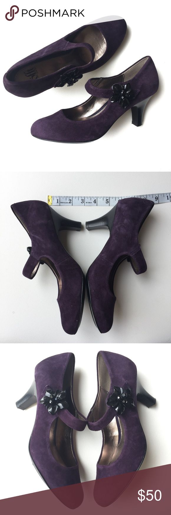 Sofft Purple Suede Mary Jane's Sofft Purple Suede Mary Jane's - GUC Sofft Shoes Heels