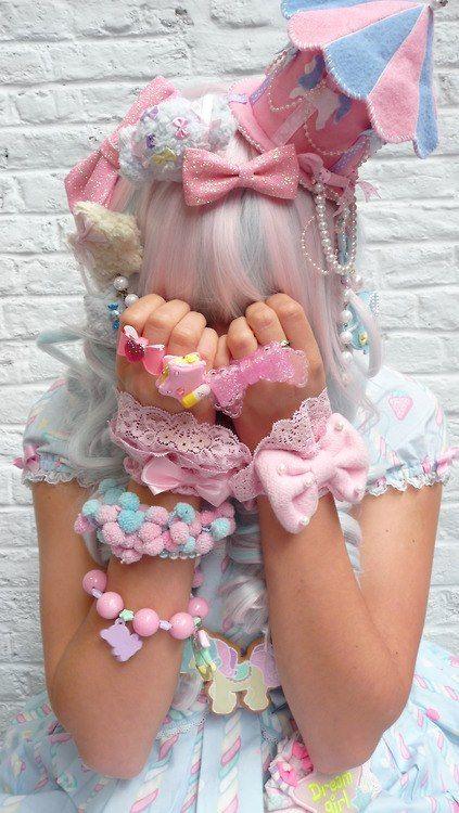 japanese fashion decora / fairy kei kawaii cute girl hair accessories