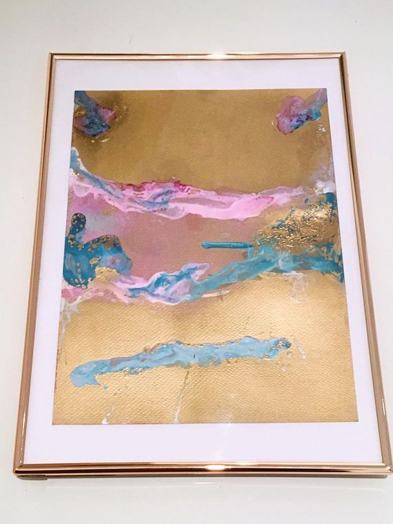 Original Abstract Painting - Gold Rush