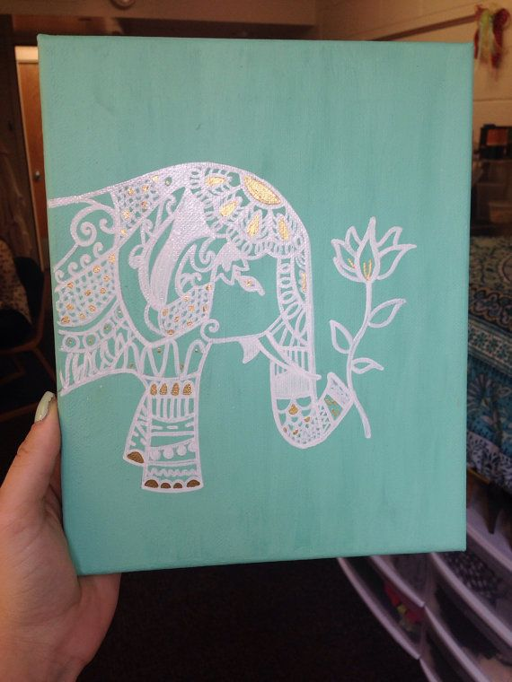 Bohemian Elephant Canvas