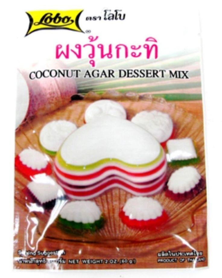 "Desserts Powder Agar Coconut Cream Thai Food Beverages Home ""Lobo"""
