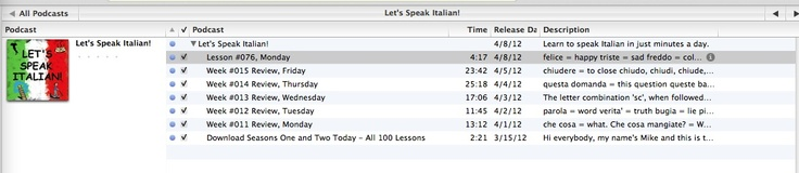 Italian Podcast Lessons from iTunes 2
