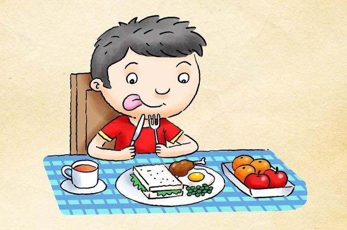 33 Gambar Kartun Anak Lagi Makan Makan Makanan Sehat Yuk Bobo