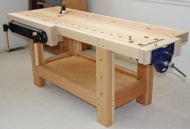Proper woodworking bench.