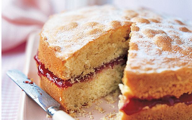 A classic recipe for jam-filled Victoria sponge from the queen of baking