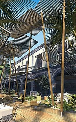Shade Structure Takes Similar Form To Palms