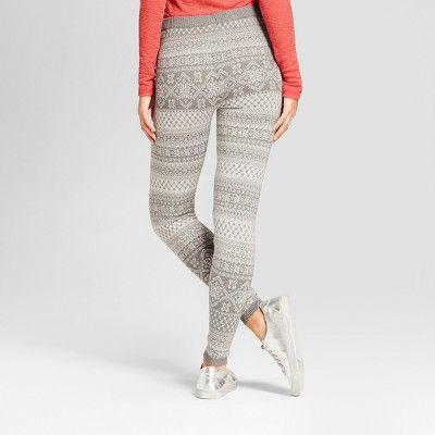 Women's Printed Leggings - Mossimo Supply Co. Gray XL