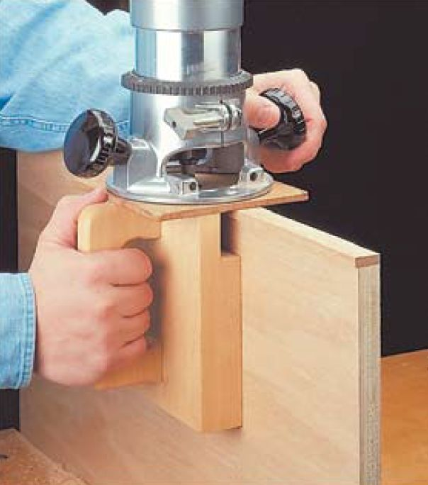 Flush Trim Jig VERY INTERESTING - MODIFY A BIT FOR MAKING FAST ACCURATE DOWEL HOLES